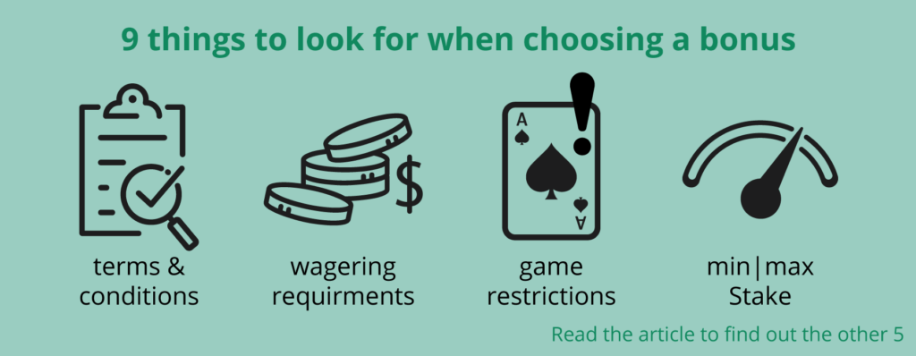 what to look for when choosing a casino bonus