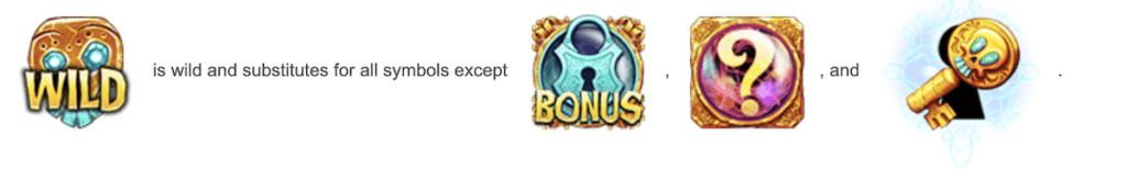 Bonus features symbols