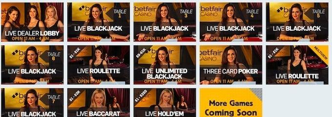 Betfair Live Dealer