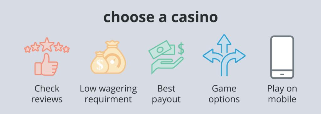 choose an online casino in America