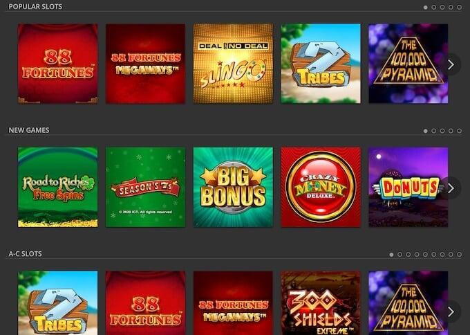 DraftKings Online Casino Games