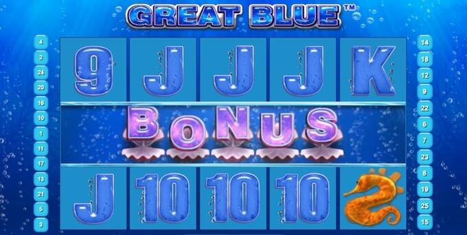 Great Blue Bonus Game