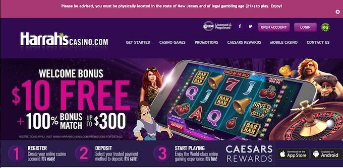 Harrah's Online Casino Bonus