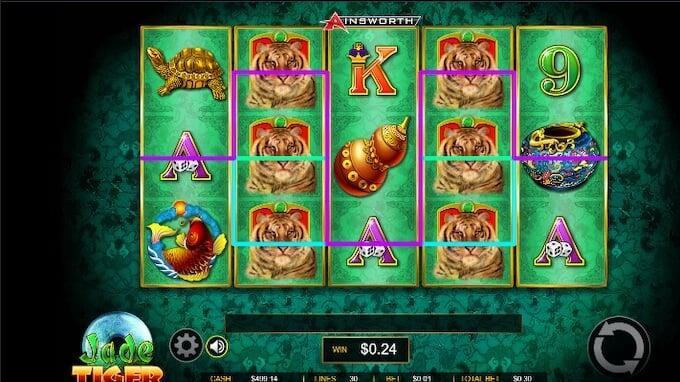 Jade Tiger Slot Graphics