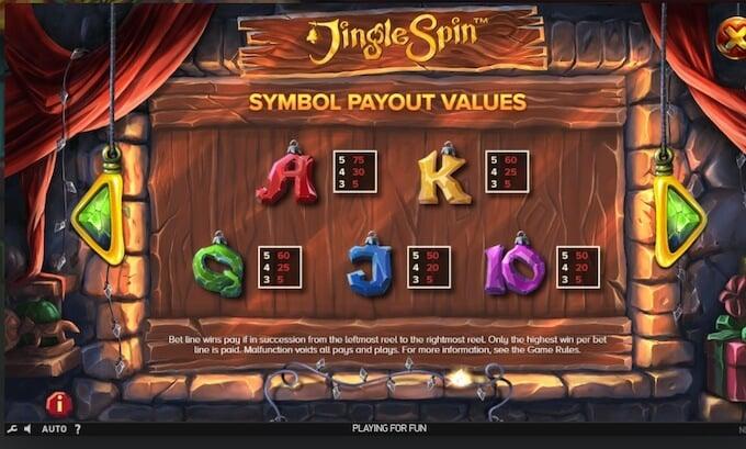 Jingle Spin Slot Symbols