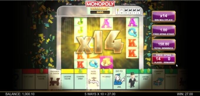 Monopoly Megaways Bonus