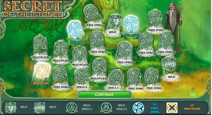 Secret of the Stones Slot Features