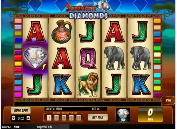 Serengeti Diamonds Online Slot Graphics